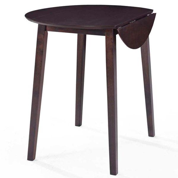 Stół I Krzesła Barowe, Lite Drewno, Ciemnobrązowe zdjęcie 3