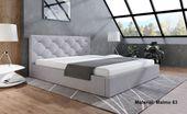 Łóżko tapicerowane slim4 140x200 ze stelażem i pojemnikiem kolory