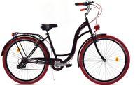 """Rower Dallas City 26"""" 7spd - czarny z czerwonym"""