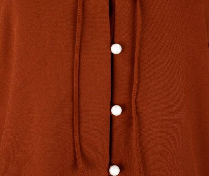 4eb3274f9 Bluzka koszulowa z wiązaniem i perełkami- polski producent- cegła Rozmiar -  36 zdjęcie 3