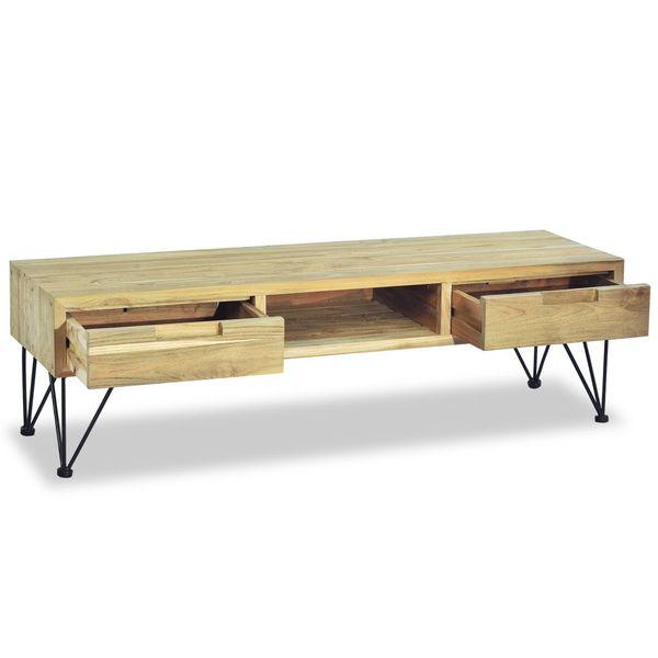 Szafka pod telewizor, 120 x 35 x 35 cm, lite drewno tekowe zdjęcie 7