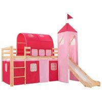 Wysoka rama łóżka dziecięcego, zjeżdżalnia i drabinka 97x208 cm 282712