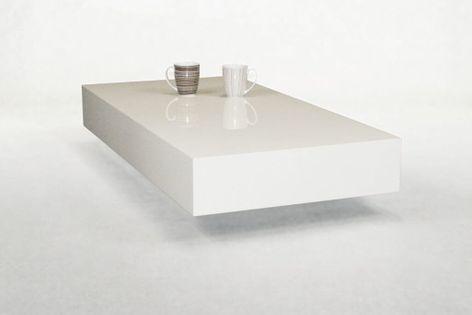 Stolik kawowy do salonu 90cm biały wysoki połysk MD-0010