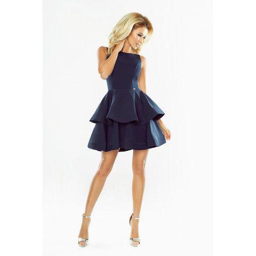 Sukienka CRISTINA rozkloszowana - GRANATOWA XL zdjęcie 3