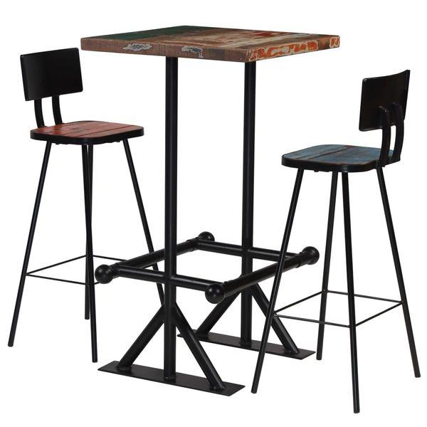 Hoker Hokery Krzesła Barowe Stolik Drewniane Zestaw Barowy