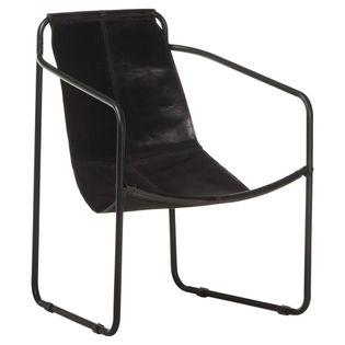 Lumarko Fotel wypoczynkowy, czarny, skóra naturalna!