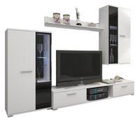 Meblościanka KOSTA - 2x witryna + stolik rtv + półka - opcja LED