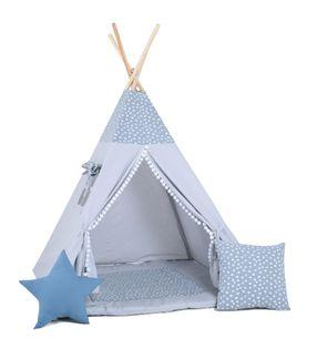 Namiot tipi dla dzieci, bawełna, okienko, poduszka, epoka lodowcowa