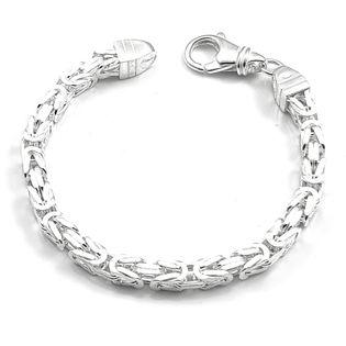 Bransoleta srebrna splot królewski bizantyjski22 cm
