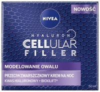 Nivea Hyaluron Cellular Filler + Modelowanie Owalu Przeciwzmarszczkowy Krem Na Noc 50Ml