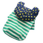 Bluza ocieplana z kapturem, zielone paski L