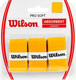 Owijka Wilson Pro Soft Absorbent Overgrip żółta 3szt WRZ4040GO