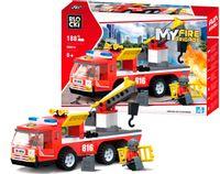 Wóz strażacki 188 e z podnośnikiem hakiem do Lego