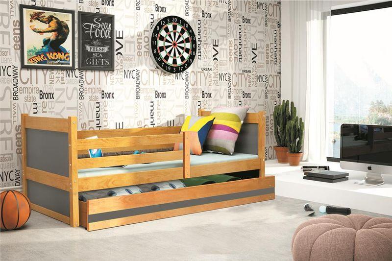 Łóżko RICO dla dzieci pojedyncze dla jednej osoby 190x80 + MATERAC zdjęcie 5