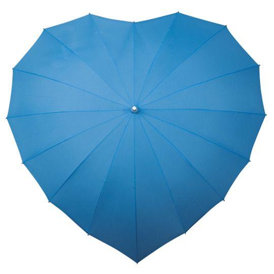 Parasolka w kształcie serca w kolorze błękitnym zdjęcie 1