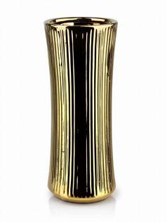 Wazon Ceramiczny 12X12X30.5Cm Yvonne Gold Mondex Htts6574