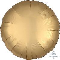 Balon foliowy satynowy Okrągły Złoty 43 cm