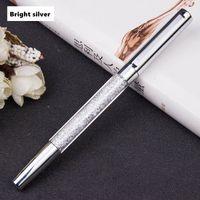 Długopis Szkolny - Biurowy - Z KRYSZTAŁKAMI - Doskonały Prezent Srebrny