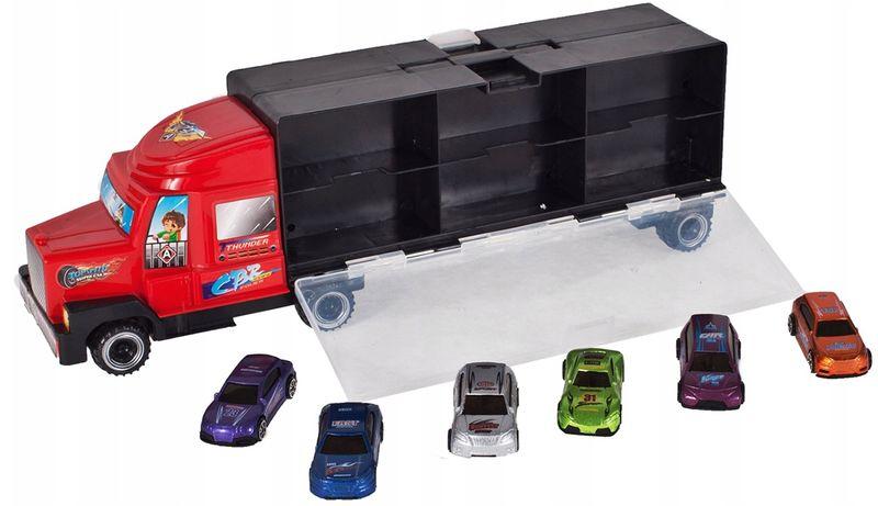 Ciężarówka z walizką z metalowymi autami TIR Y187 zdjęcie 7
