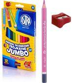 Kredki ołówkowe trójkątne grube ASTRA Jumbo 12 kol