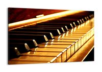 Obraz Na Płótnie - Fortepian Muzyka - 120X80 Cm - Aa120X80-2200
