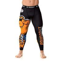 Poundout legginsy na siłownie męskie Kocur Rozmiar - M