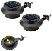 Lampa solarna oświetlenie LED 2szt rynnowe rynny ogrodowa swe