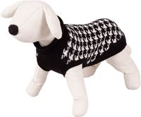 Sweterek dla psa Happet 380L czarno-biały L-35cm
