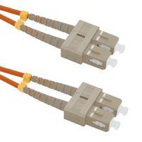 Qoltec Patchcord światłowodowy SC/UPC-SC/UPC | MM | 50/125 | OM2 | 2m