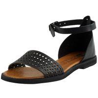Czarne Sandały Nessi 18381 CoZaButy skórzane R.40