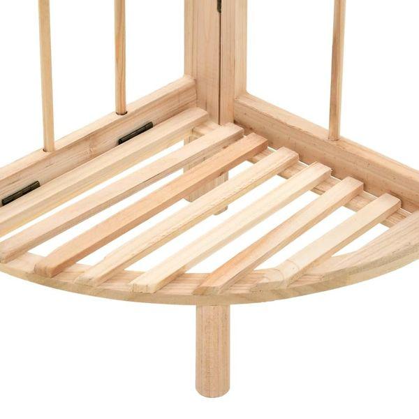 Regał Narożny Z Drewna Cedrowego, 27 X 27 X 110 Cm zdjęcie 4