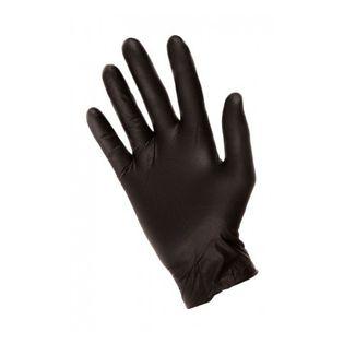 Rękawiczki nitrylowe wielokrotnego użytku czarne M 2SZT 7 mikronów