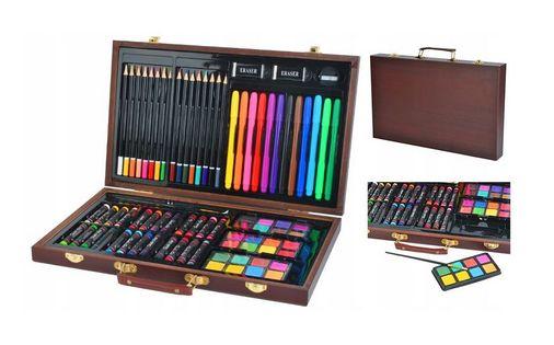 Zestaw artystyczny do malowania rysowania Walizka 81 elementów Y242
