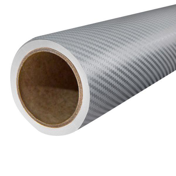 Folia Okleina Termoplastyczna Carbon Karbon 3D 127x50cm SREBRNY FC2 na Arena.pl