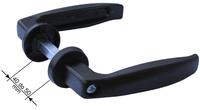 Klamka duraluminiowa - szerokość 40-50 mm - do furtki, drzwi