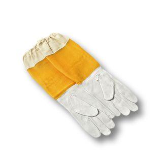 Rękawice z wentylowanym rękawem skórzane XL