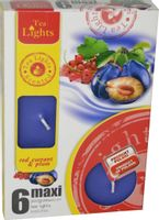 Duże podgrzewacze Tealight Maxi a'6 Red currant & plum