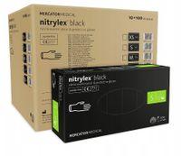 Rękawice nitrylowe nitrylex black S karton 10 x 100 szt