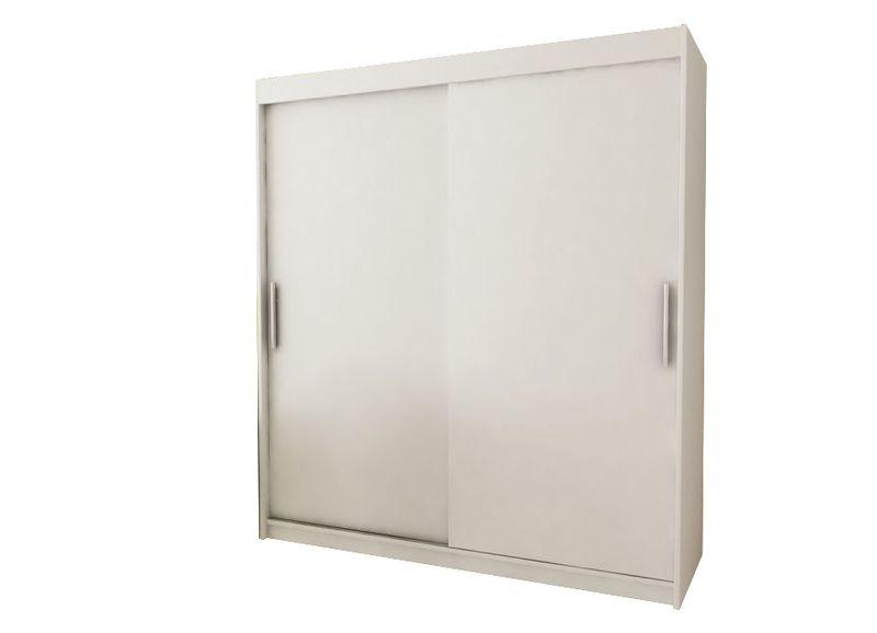 Szafa garderoba przesuwna biała DARO 200 RIBES zdjęcie 1