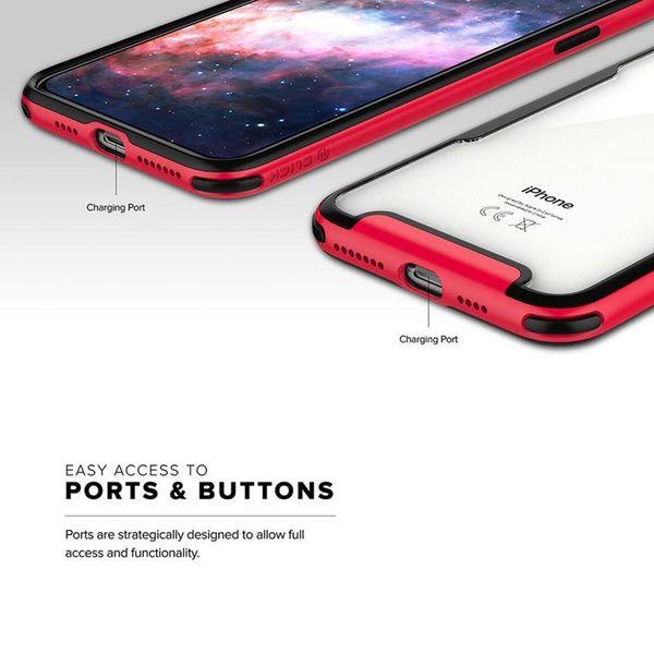 Zizo Fuse Case Etui ochronne iPhone Xs Max + szkło na ekran (czerwone/czarne) zdjęcie 3