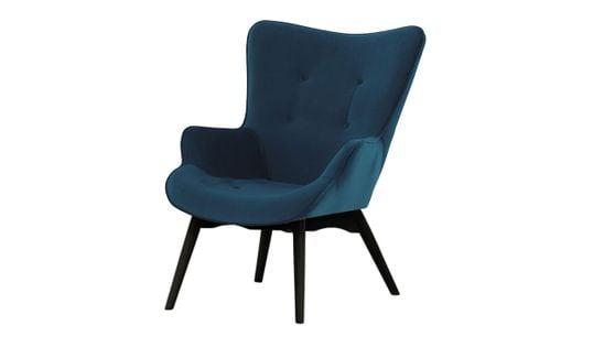 Fotel Ducon Velvet-Kronos 9-czarny