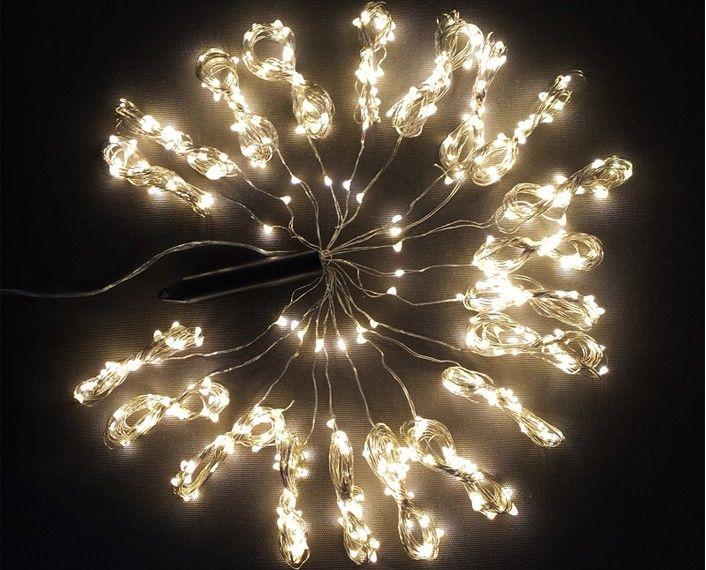 Lampki Na Druciku 20 Wiązek Po 25 M 500 Led Zewnętrzne Oświetlenie świąteczne Nr 0232 Wybierz Kolor światła Niebieski