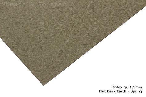 Kydex Flat Dark Earth - Spring - 150x200mm gr. 1,5mm