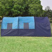Namiot Turystyczny Dla 6 Osób, Granatowo-Niebieski zdjęcie 4