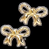 LALA Kolczyki złote kokardki na sztyft