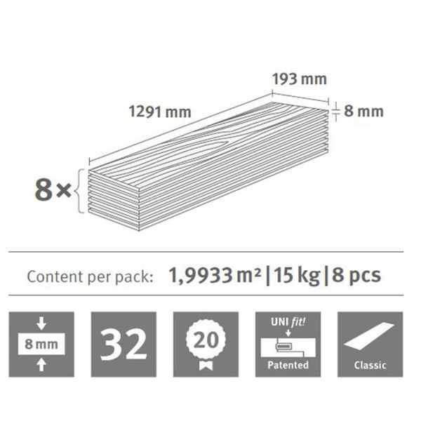 Egger Laminowane Panele Podłogowe, 91,54 M², 8 Mm, Toscolano Oak Light na Arena.pl