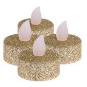 Świąteczny zestaw świec tealight Led 4szt prezent