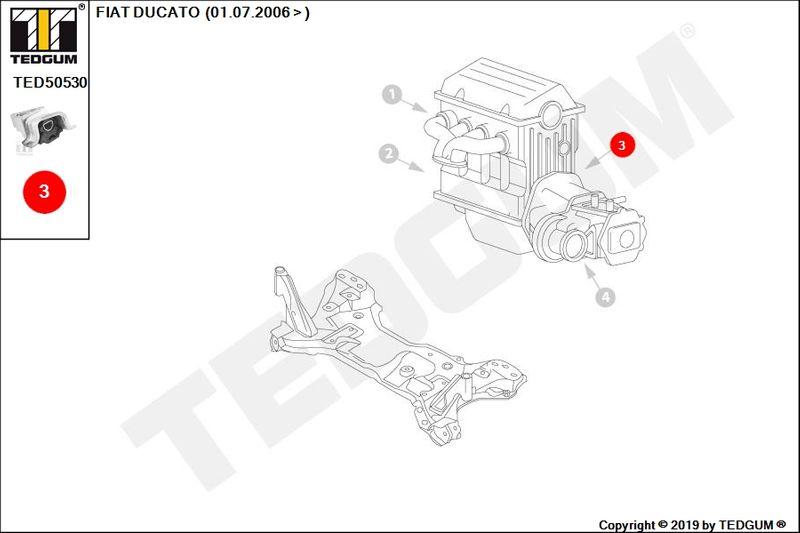 FIAT DUCATO PODUSZKA SILNIKA LEWA III 250 290 06- zdjęcie 3