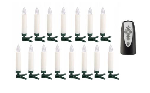 Świeczki choinkowe LAMPKI RETRO 15 sztuk LED bez kabla