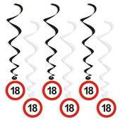 dekoracja wisząca ŚWIDERKI 18 urodziny Traffic x6